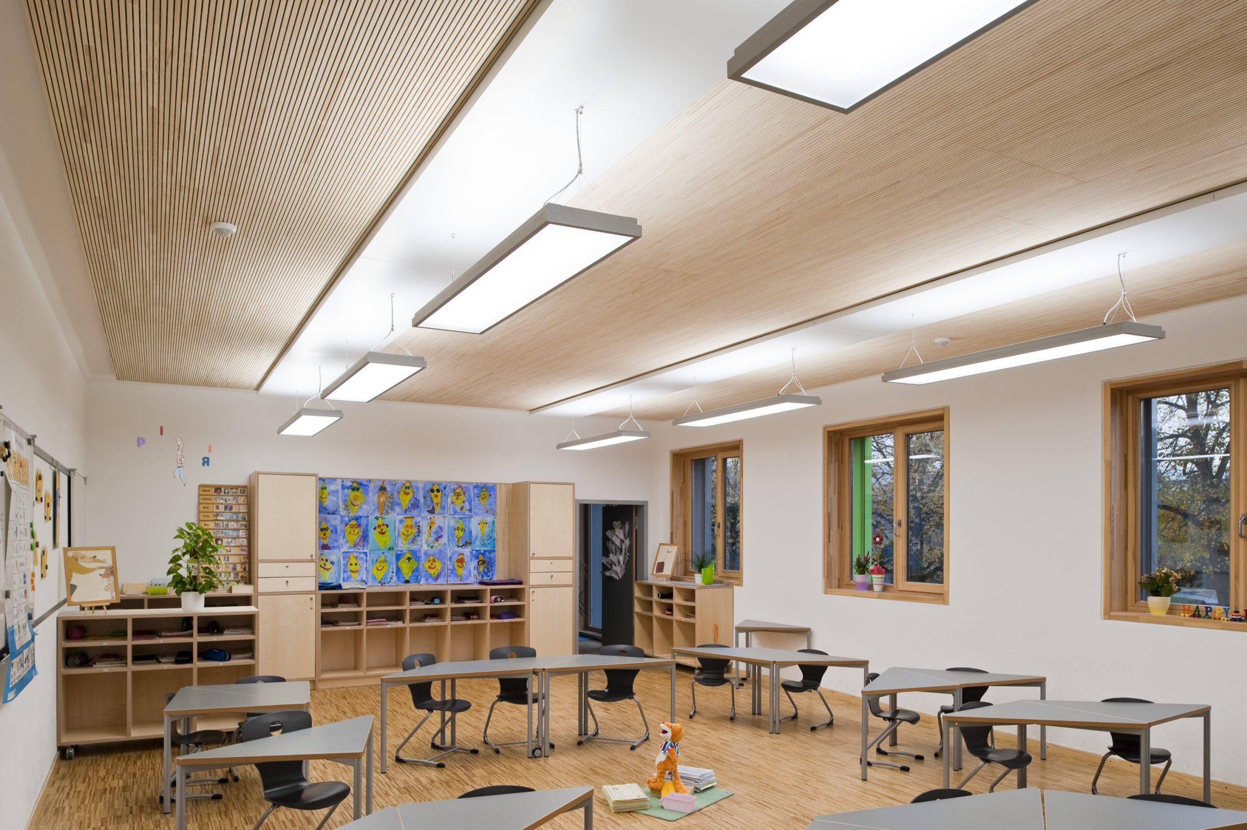 Klassenzimmer Lichtstimmung Parkett