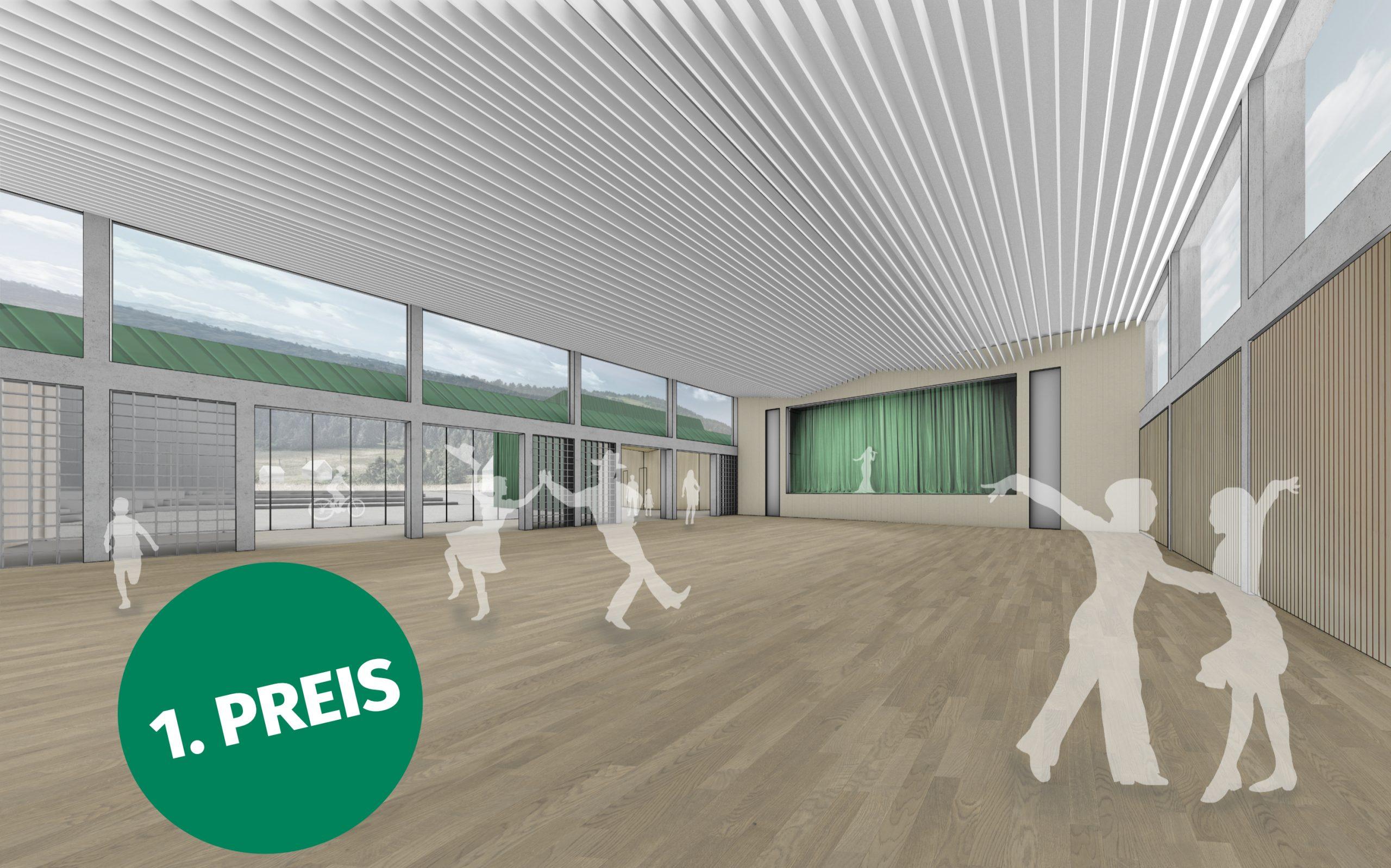 Kulturhalle Steinwiesen Wettbewerb 1. Preis